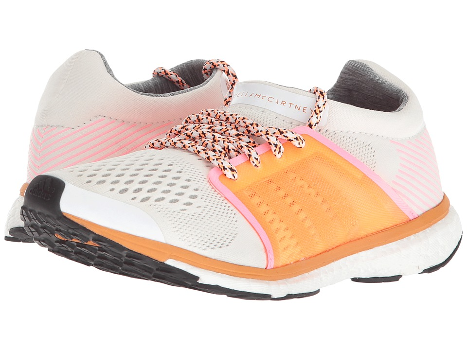 adidas by Stella McCartney Adizero Adios (Core White/Glow Orange S14/Hyper Pop F12) Women's Running Shoes