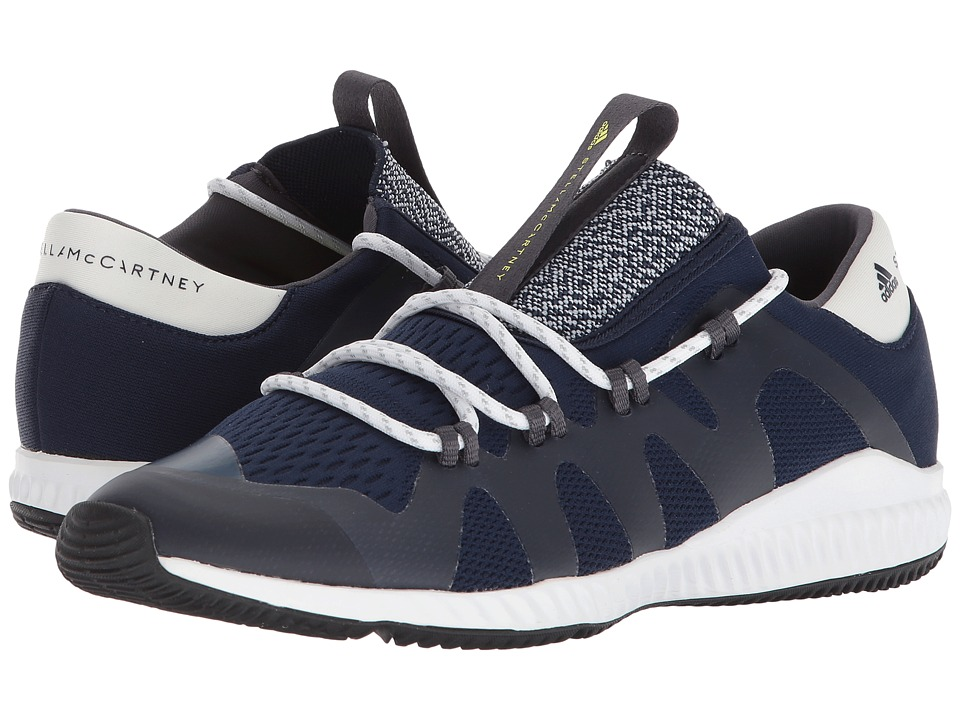 adidas by Stella McCartney Crazy Train Pro (Collegiate Navy/Core White/Aero Lime S11) Women's Shoes