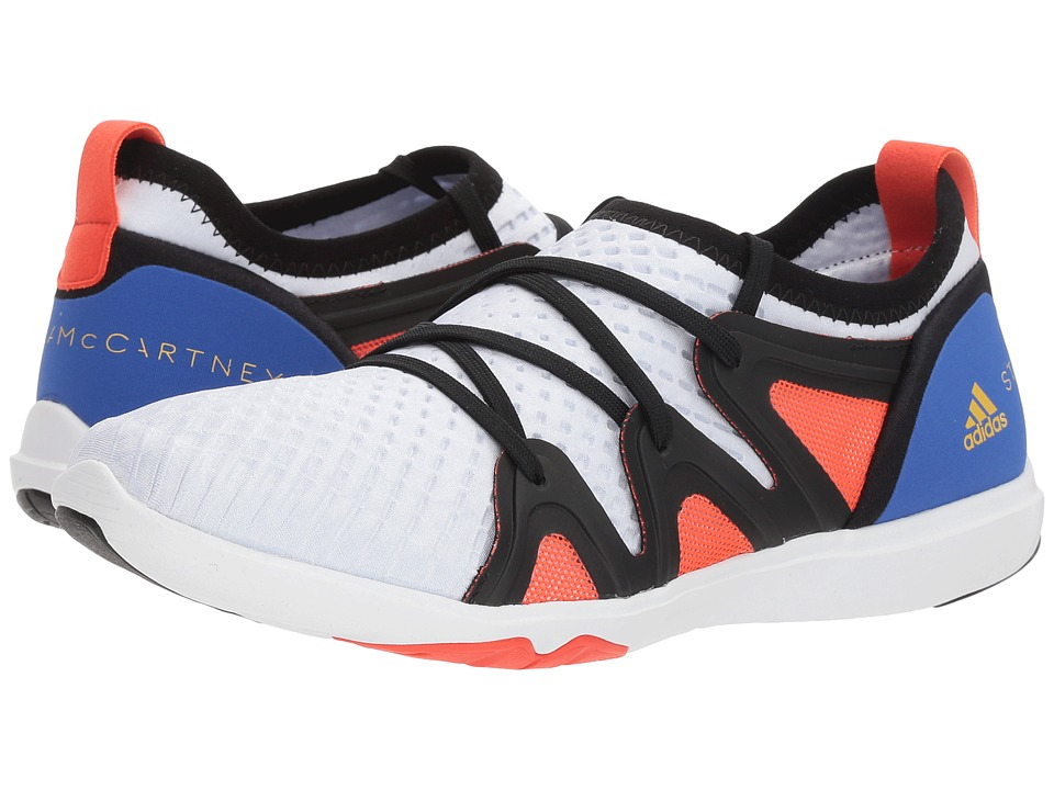 adidas by Stella McCartney - Crazy Move Pro (Core White/Hi-Res Blue S18/Semi Solar Red) Womens Shoes