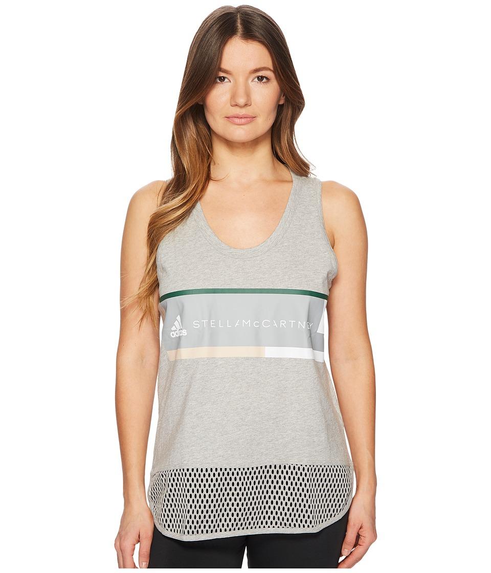 adidas by Stella McCartney Essentials Logo Graphic Tank Top CY7359 (Medium Grey Heather) Women