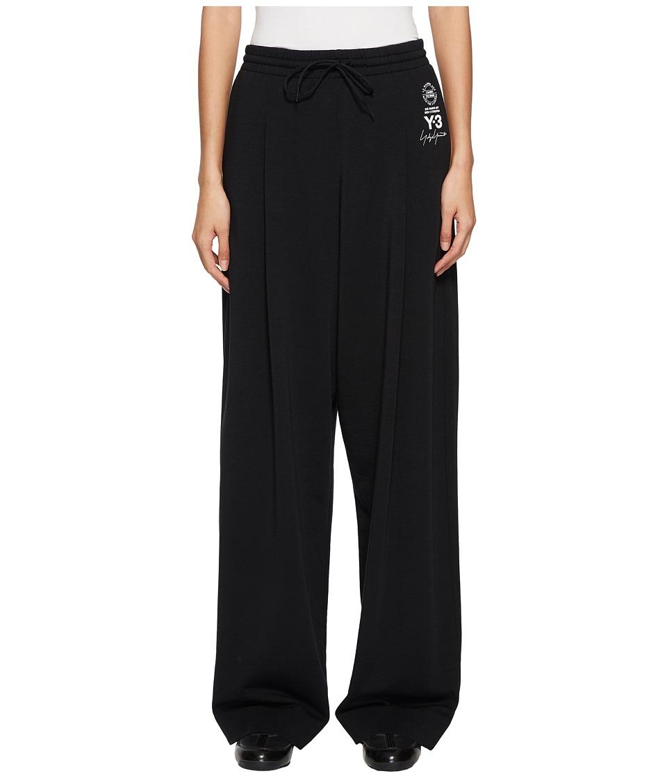 Adidas Y-3 by Yohji Yamamoto - Lux Wide Pants (Black) Wom...