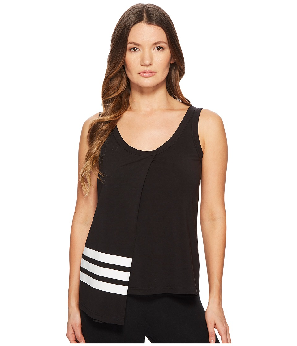 Image of adidas Y-3 by Yohji Yamamoto - 3-Stripes Tank Top (Black/Core White) Women's Sleeveless