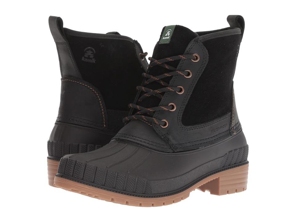 Kamik Sienna Mid (Black) Women's Cold Weather Boots