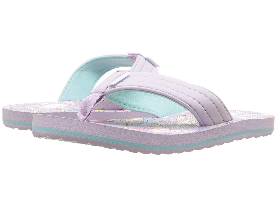 Vans Kids T Street Print Jr (Little Kid/Big Kid) ((Purrrmaids) Lavender Fog/True White) Girls Shoes