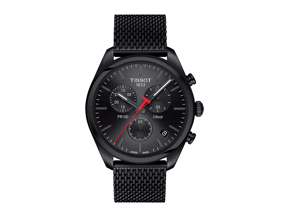 Tissot - PR 100 Chronograph - T1014173305100 (Silver/Black) Watches