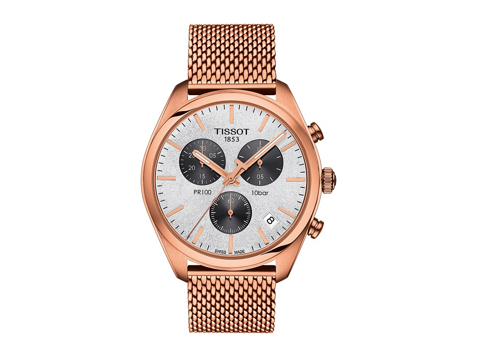 Tissot - PR 100 Chronograph - T1014173303101 (Silver/Rose Gold) Watches