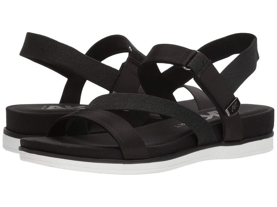 Anne Klein - Nolita (Black/Black Fabric) Women's Sandals