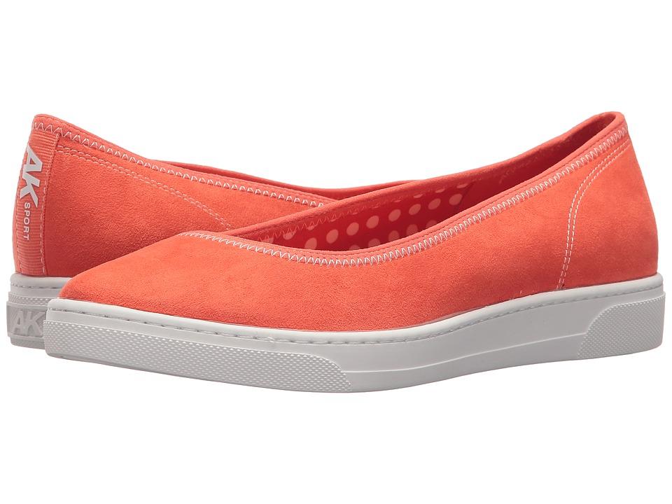 Anne Klein - Overthetop (Orange/Orange/White Fabric) Womens Flat Shoes