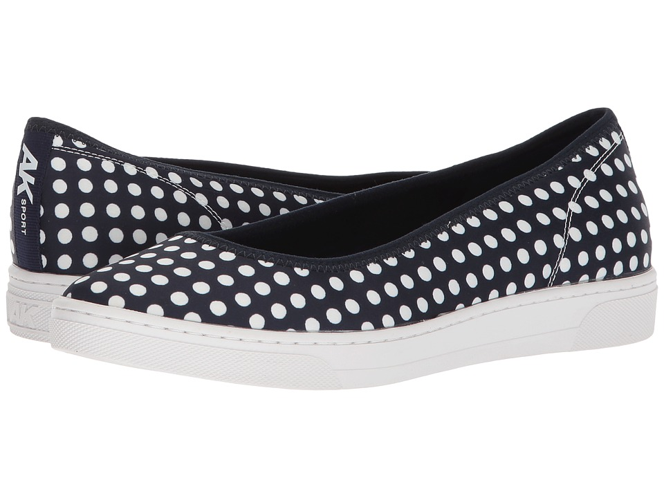 Anne Klein Overthetop (Navy/White/Navy/White Fabric) Flats