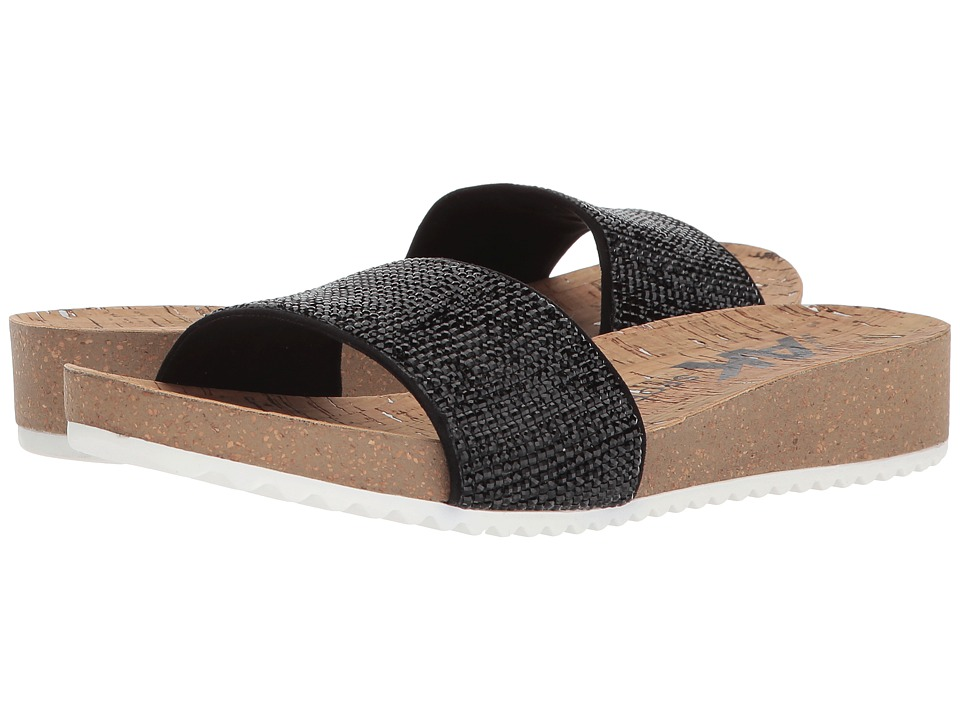 Anne Klein - Qtee (Black/Black Synthetic) Womens Sandals