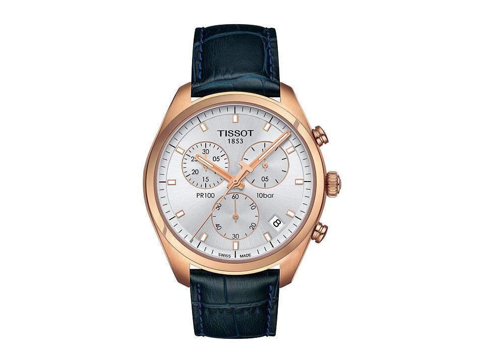 Tissot PR 100 Chronograph - T1014173603100 (Silver/Blue) ...