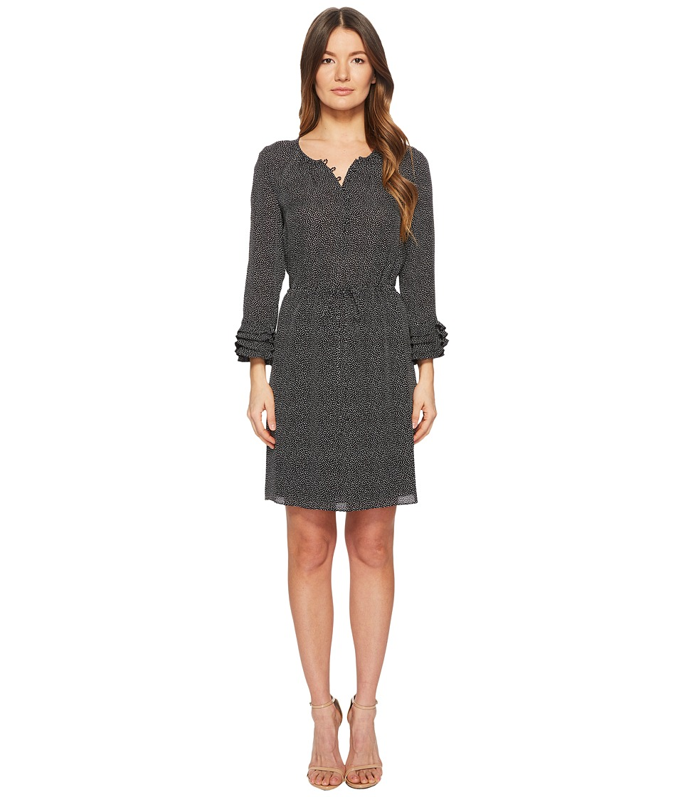 Rebecca Taylor - Long Sleeve Pebble Dress (Black Combo) Womens Dress