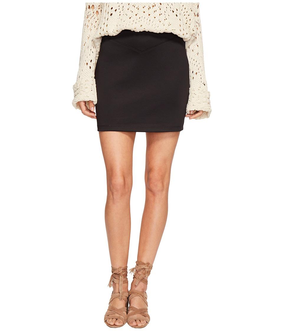 Free People Ponte Knit Skirt (Black) Women