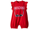Moschino Kids Logo Sunglasses Graphic Romper (Infant)