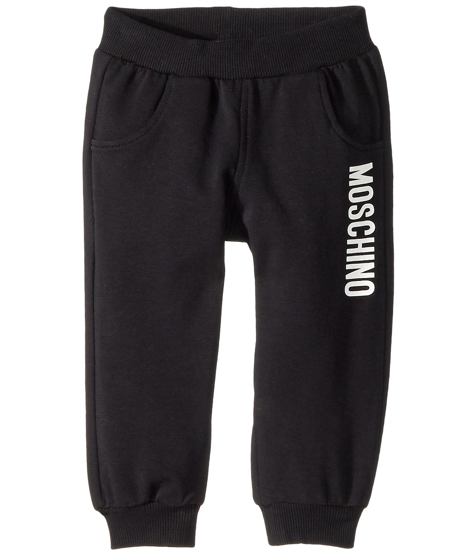 Moschino Kids - Sweatpants w/ Logo on Front (Infant/Toddler) (Black) Boys Casual Pants
