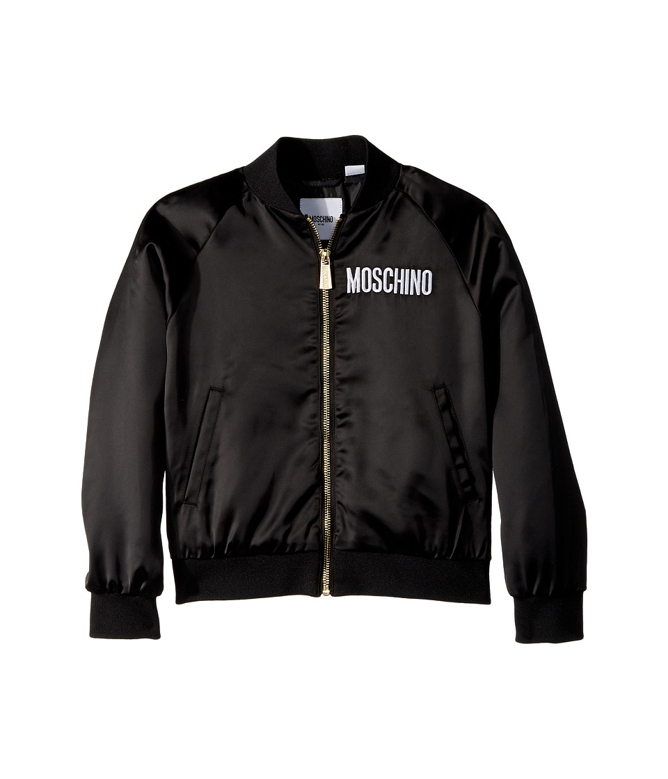 Moschino Kids - Jacket w/ Sequin Teddy Bear on Back (Litt...