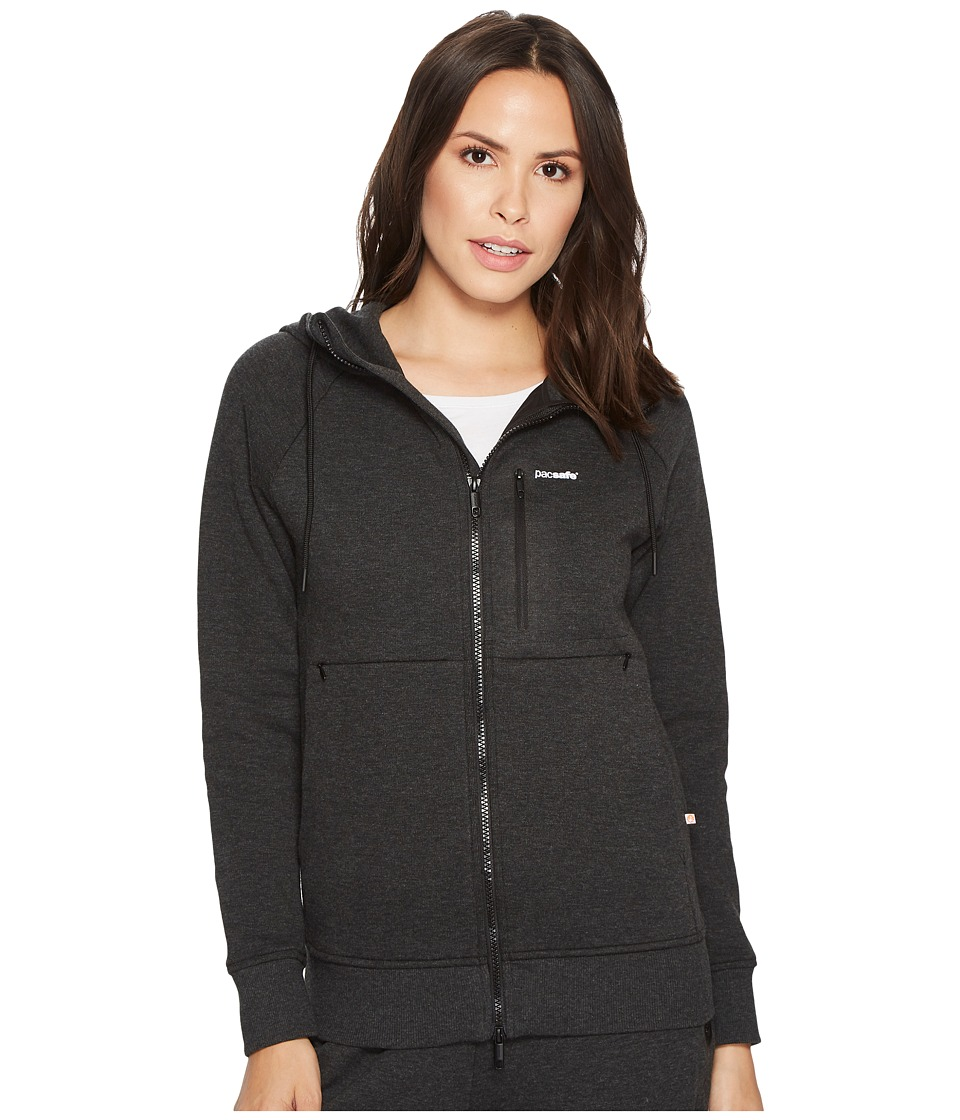 Pacsafe Transit Hoodie (Heather Charcoal) Women's Sweatshirt