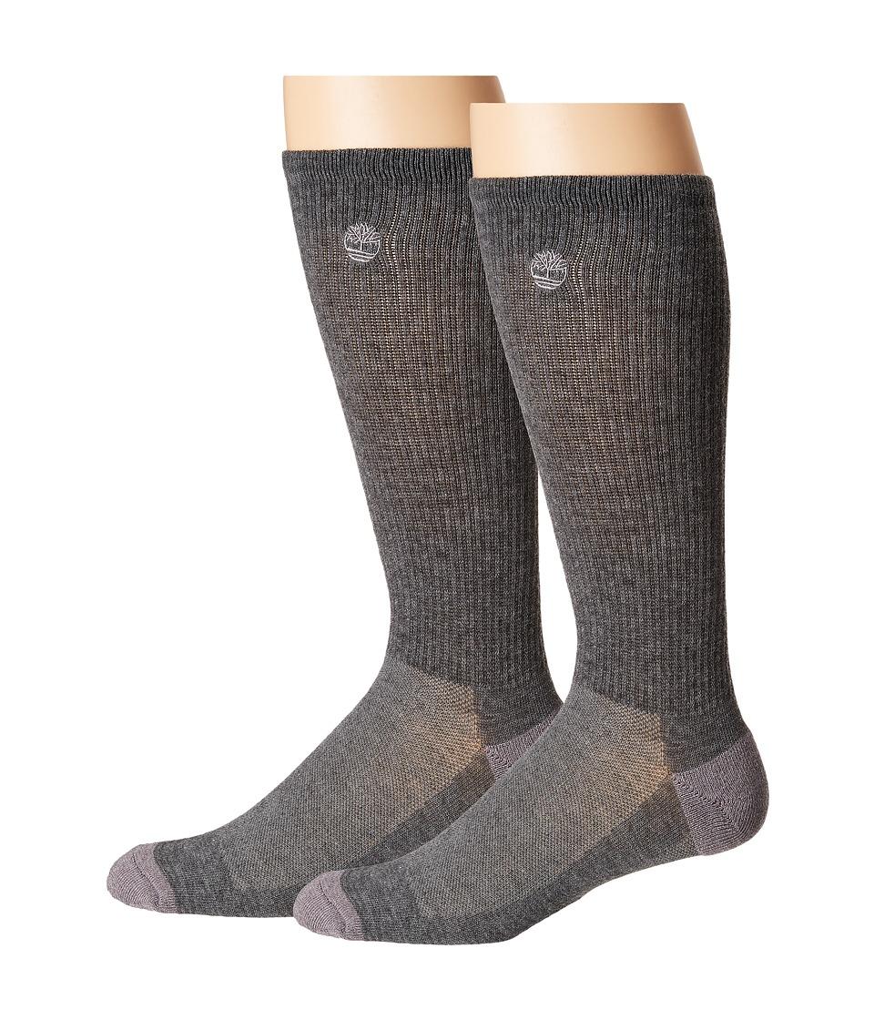 Timberland - 3-Pair Pack Coolmax Crew (Grey) Mens Crew Cut Socks Shoes
