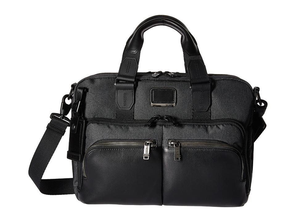 Tumi - Alpha Bravo Albany Slim Commuter Brief (Anthracite) Briefcase Bags