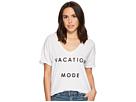 The Original Retro Brand Vacation Mode Short Sleeve Slub V-Neck Tee