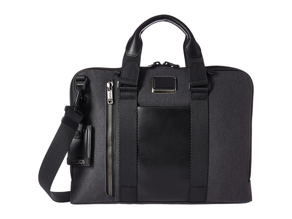 Tumi - Alpha Bravo - Aviano Slim Brief (Anthracite) Briefcase Bags