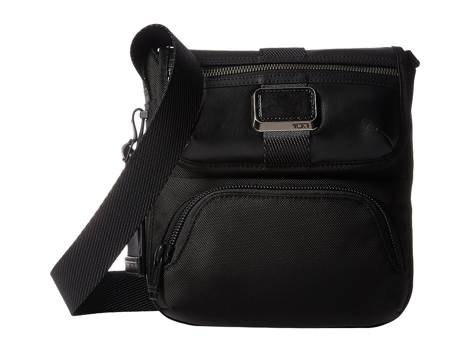 Tumi - Alpha Bravo Barton Crossbody (Black) Cross Body Handbags