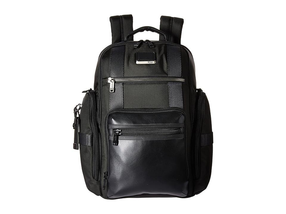 Tumi - Alpha Bravo Sheppard Deluxe Brief Pack(r) (Black) Briefcase Bags