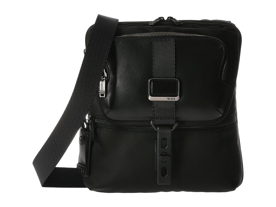 Tumi - Alpha Bravo Arnold Zip Flap (Black) Messenger Bags