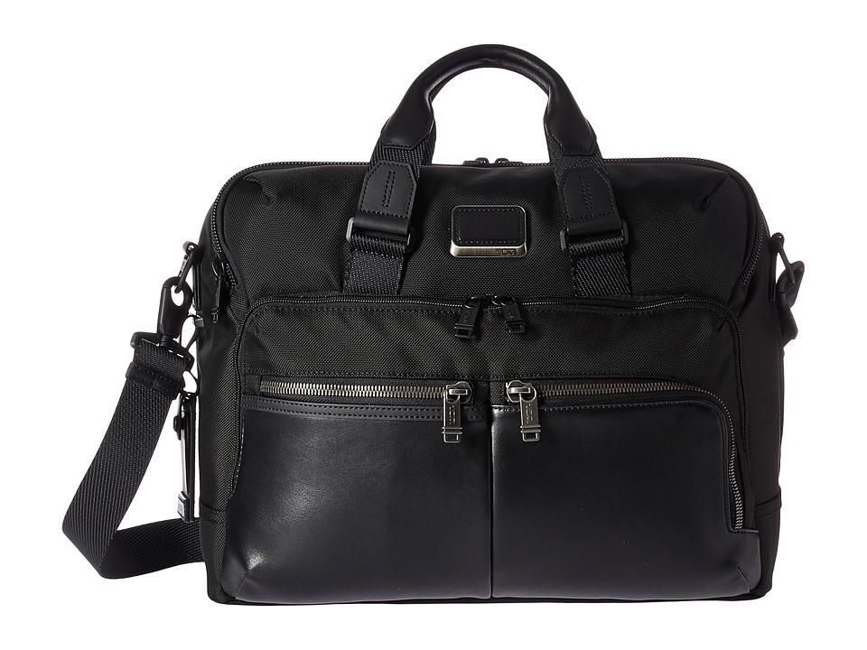 Tumi - Alpha Bravo Patterson Brief (Black) Briefcase Bags