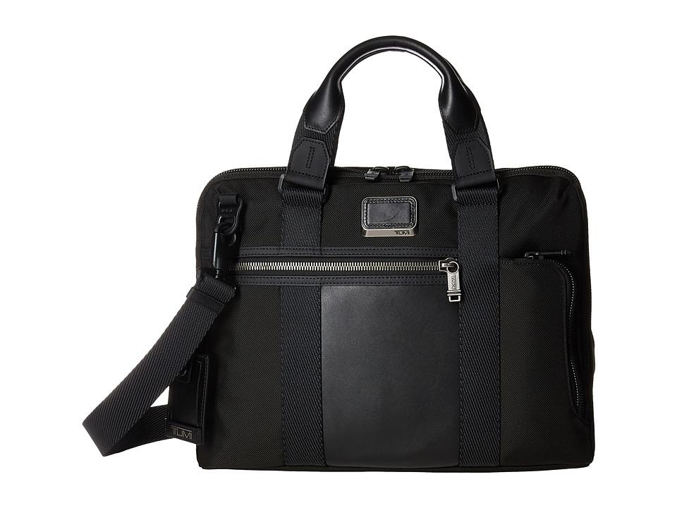 Tumi - Alpha Bravo - Charleston Compact Brief (Black) Briefcase Bags