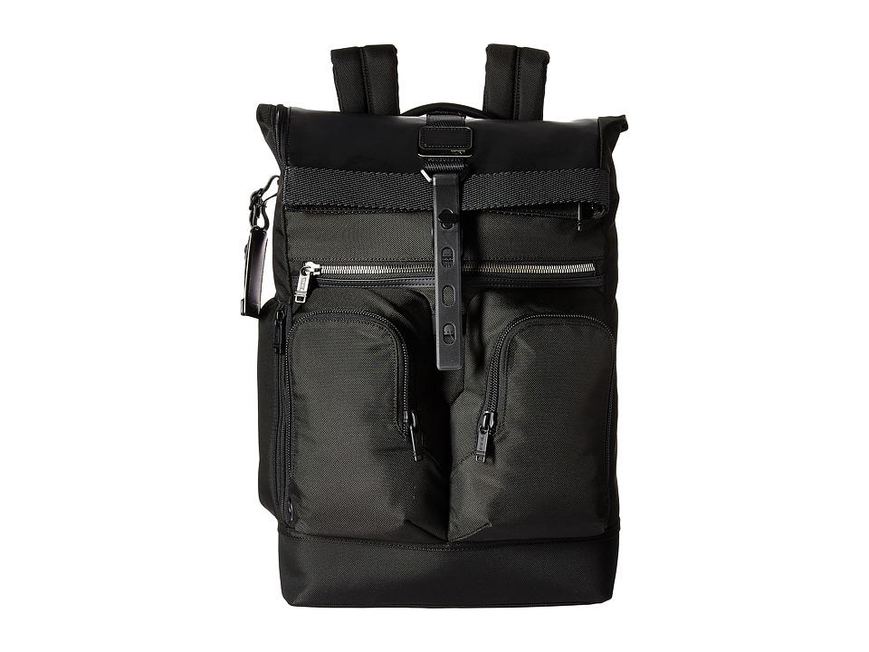 Tumi - Alpha Bravo London Roll-Top Backpack (Black) Backpack Bags