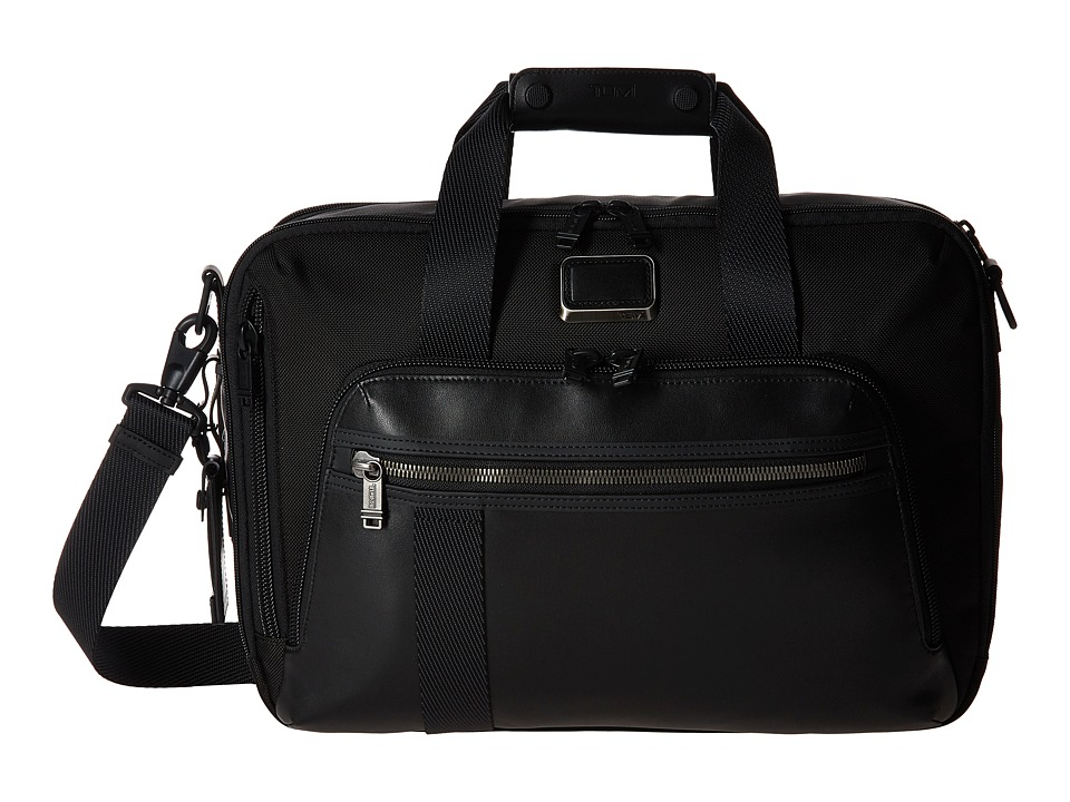 Tumi - Alpha Bravo - Mountain Three-Way Brief (Black) Briefcase Bags