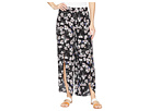 Mod-o-doc Printed Rayon Tulip Hem Pull-On Cropped Pants