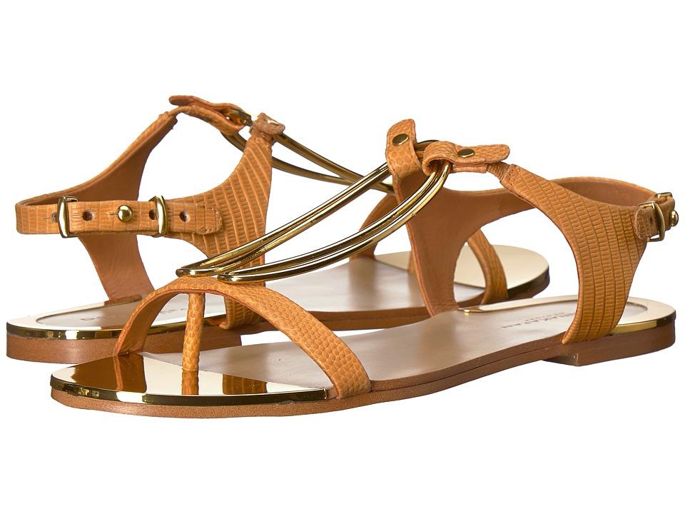 Donna Karan Kaden Sandal (Yellow Two-Tone Embossed Lizard) Women's Shoes
