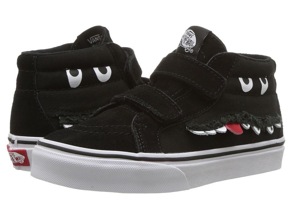 Vans Kids SK8-Mid Reissue V (Little Kid/Big Kid) ((Monster Face) Black/True White) Girls Shoes
