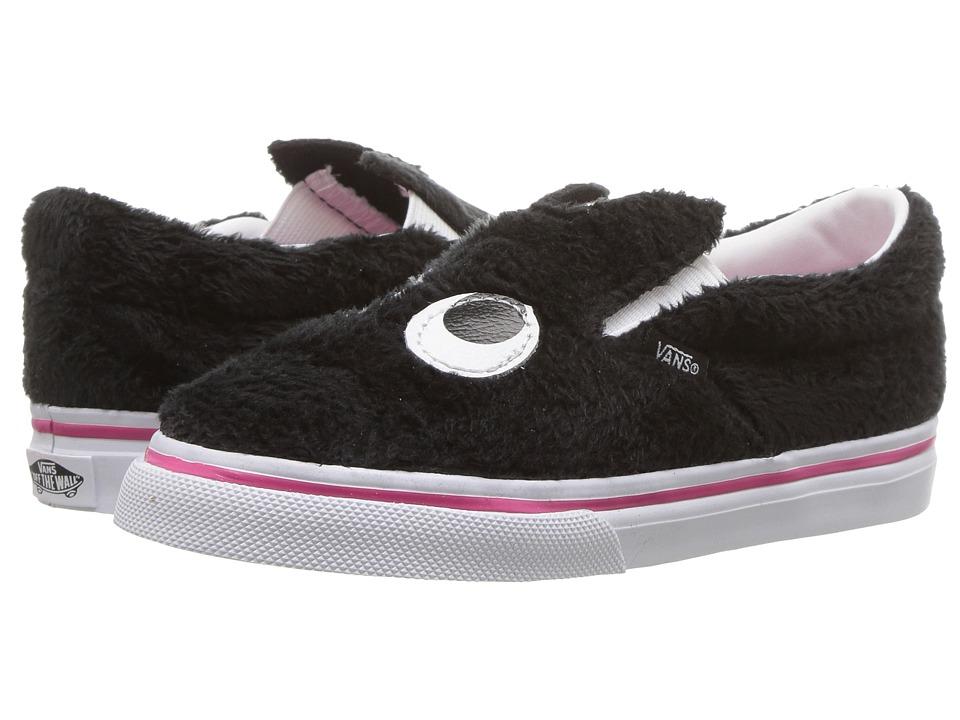Vans Kids Slip-On Friend (Infant/Toddler) ((Party Fur) Black/True White) Girls Shoes