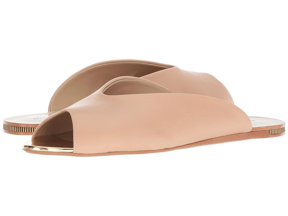 Donna Karan Zuzu Mule (Nude Semi Crackle Nappa PU) Women's Shoes
