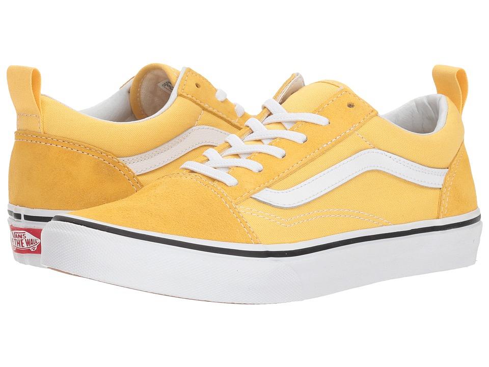 Vans Kids Old Skool Elastic Lace (Little Kid/Big Kid) (Yellow/True White) Girls Shoes