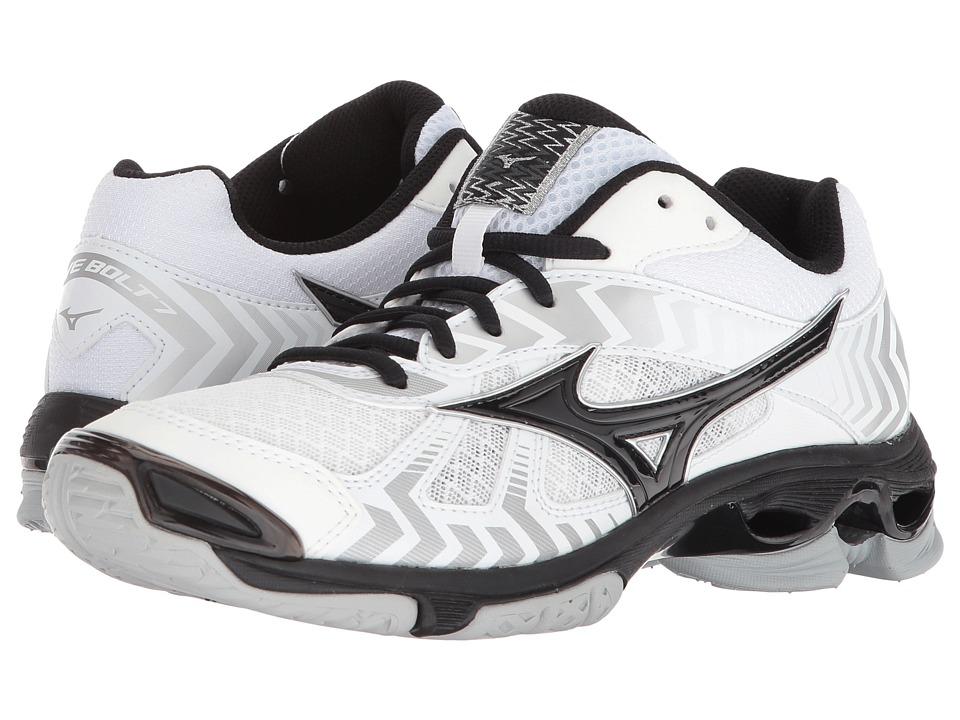 Mizuno Wave Bolt 7 (White/Black) Women's Volleyball Shoes