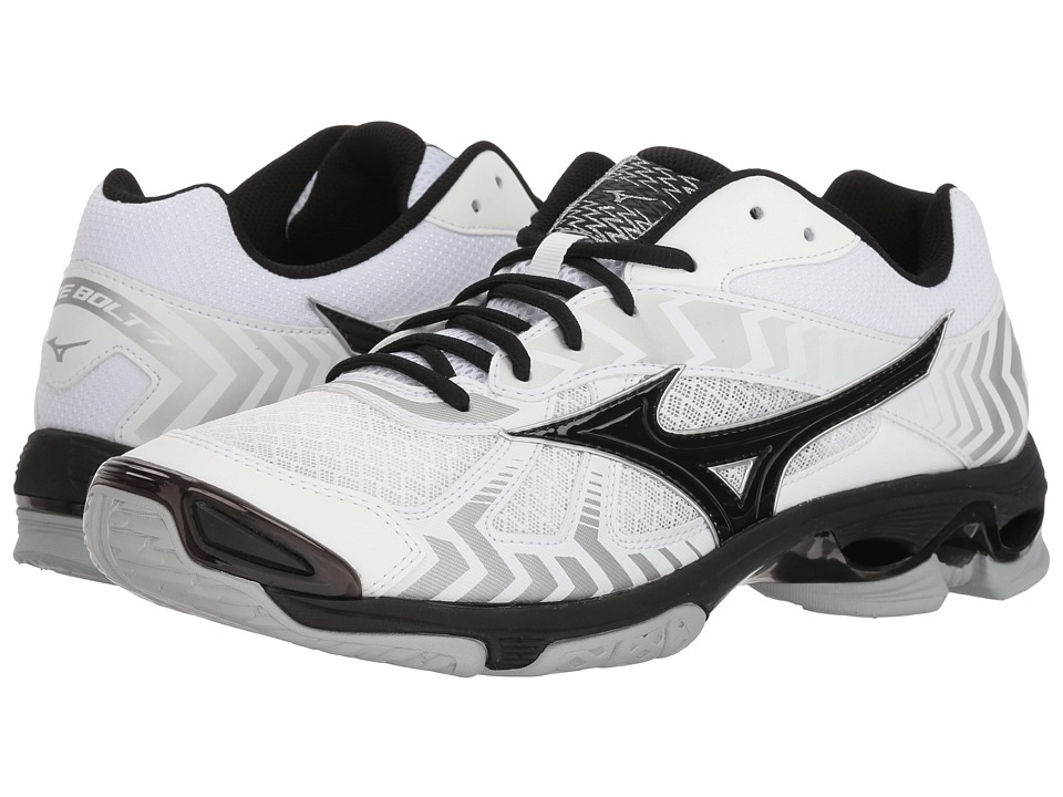 Mizuno Wave Bolt 7 (White/Black) Men's Volleyball Shoes