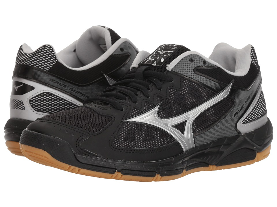Mizuno Wave Supersonic (Black/Silver) Women's Volleyball Shoes