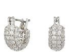 Betsey Johnson Blue by Betsey Johnson Silver Tone Huggie Hoops with Pave Crystal Accents and CZ Stone Studs, Includes Set of 2-Pair of Earrings