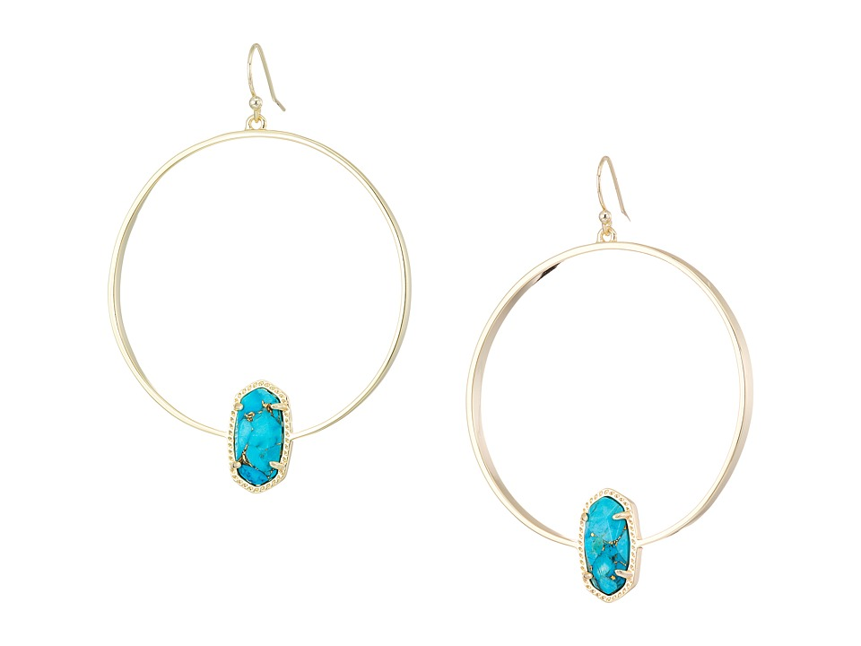 Kendra Scott Elora Earring (Gold/Bronze Veined Turquoise)...