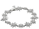 Betsey Johnson Blue by Betsey Johnson Silver Tone Star CZ Stone Tennis Bracelet with Pave Crystal Accents