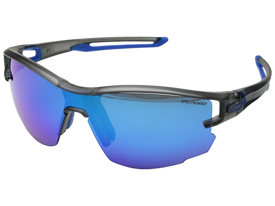 Image of Julbo Eyewear - Aero (Translucent Gray/Blue) Sport Sunglasses