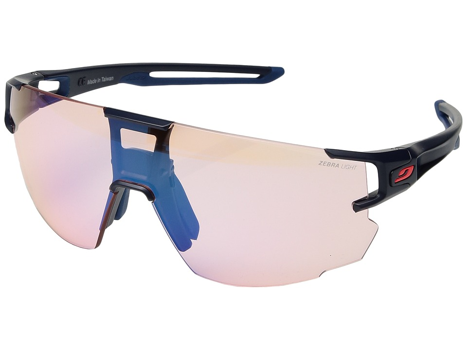 Image of Julbo Eyewear - Aerospeed (Dark Blue/Dark Blue/Orange) Athletic Performance Sport Sunglasses