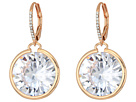 Betsey Johnson Betsey Johnson Blue by Betsey Johnson Large CZ Stone Drop with Crystal Accents and Rose Gold Tone Details Earrings