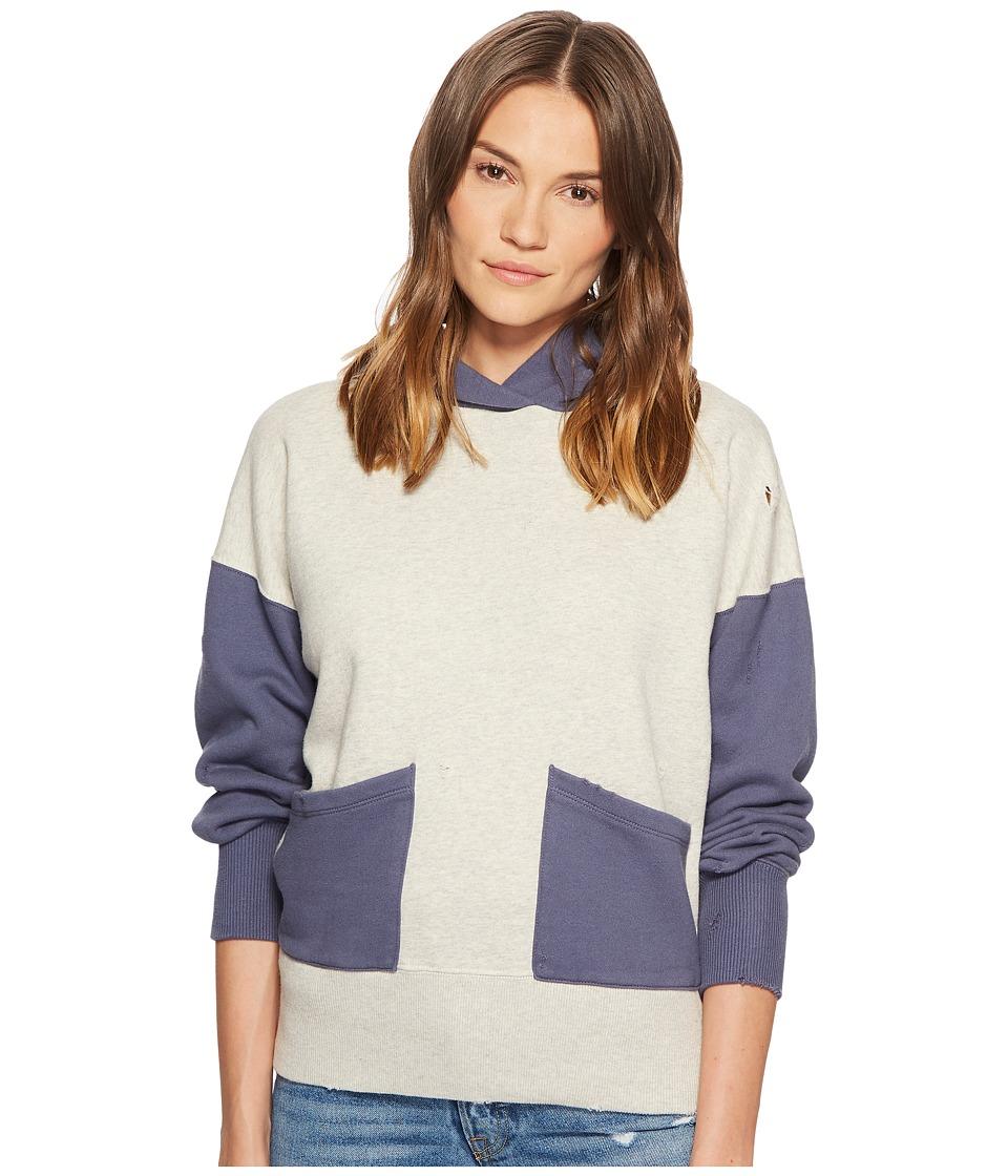Levis(r) Premium - Vintage Clothing 1950s Hoodie (Color Block Grey Mele/Blue) Sweatshirt