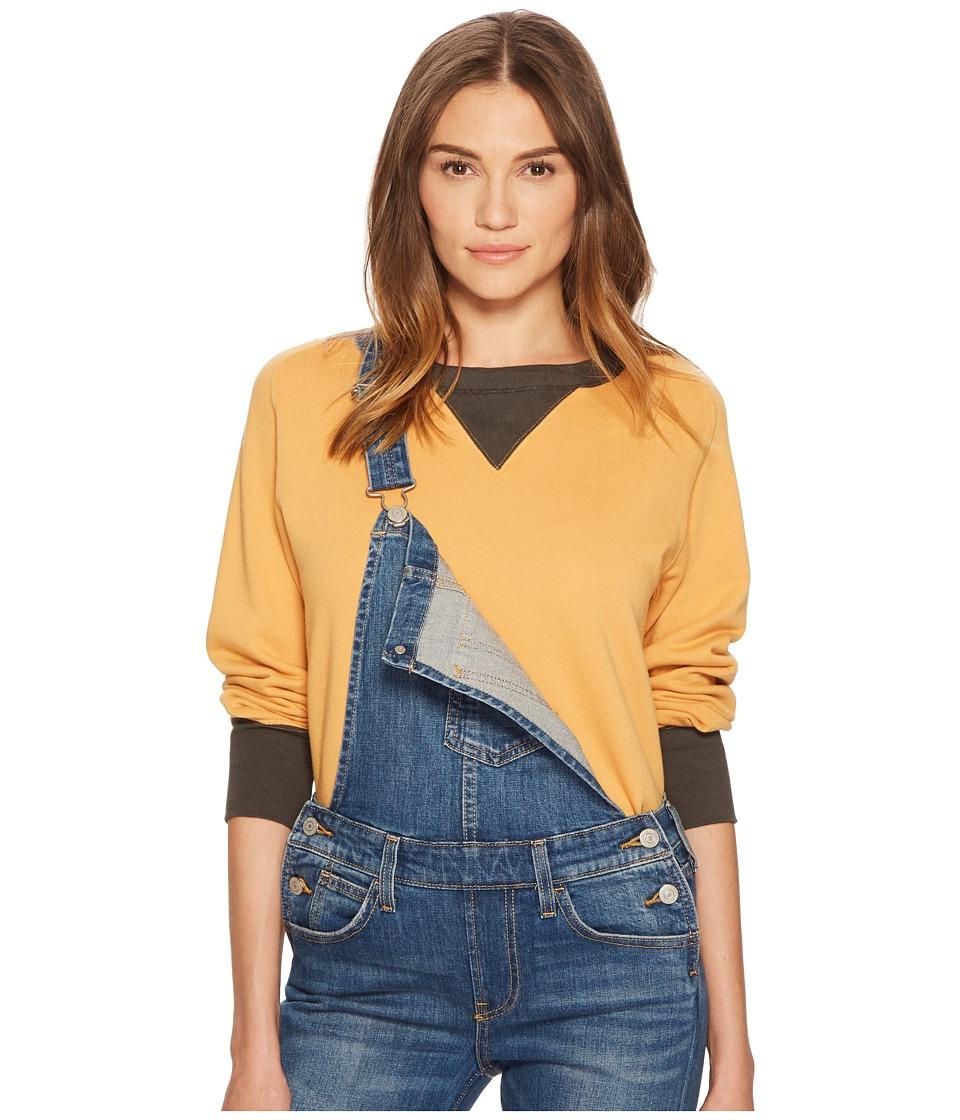 Levis(r) Premium - Vintage Clothing Bay Meadows Sweatshirt (Color Block Faded Orange/Black) Sweatshirt