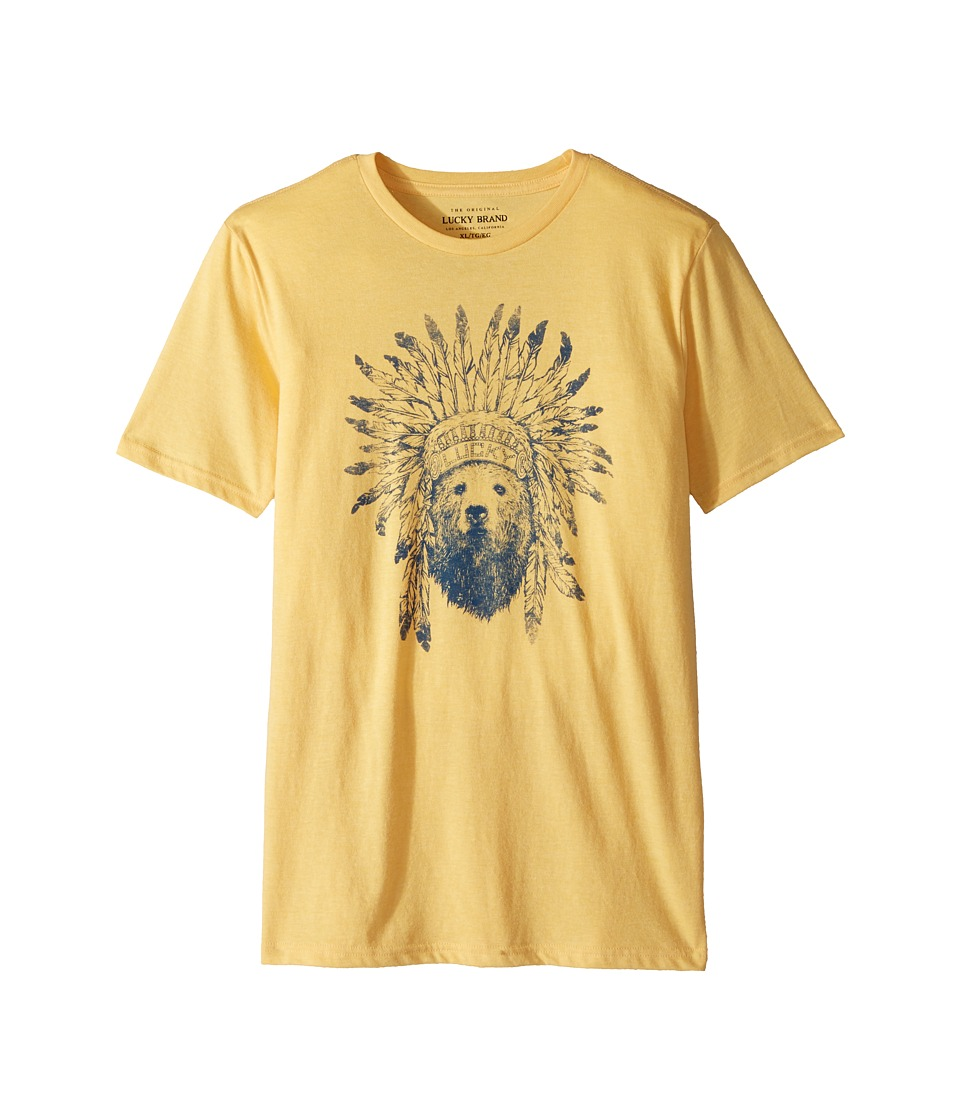 Lucky Brand Kids - Short Sleeve Graphic Tee (Little Kids/Big Kids) (Yolk Yellow Heather) Boys T Shirt
